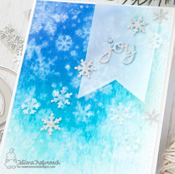 Joy #handmade card by Tatiana Trafimovich #tatianacraftandart - Snow Globe Shaker Die by Newton's Nook Designs #newtonsnook