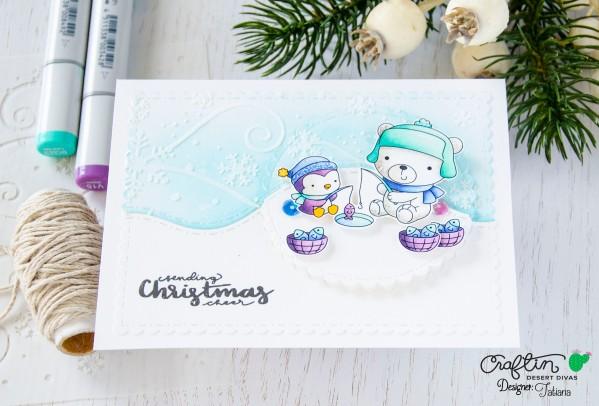 Sending Christmas Cheer #handmadecard by Tatiana Trafimovich #tatianacraftandart - Arctic Palls stamp set by Craftin Desert Divas #craftindeserdivas