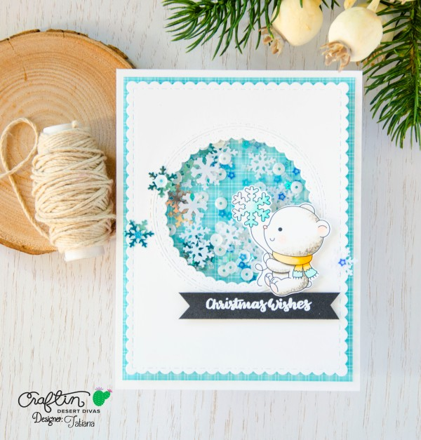 Christmas Wishes #handmadecard by Tatiana Trafimovich #tatianacraftandart - Arctic Pals stamp set by Craftin Desert Divas #craftindeserdivas