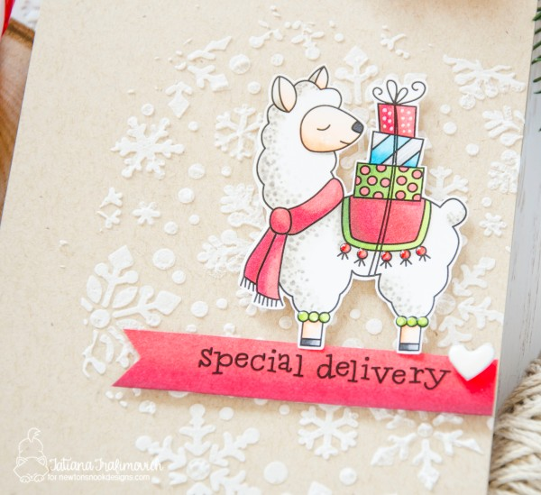 Special Delivery #handmade card by Tatiana Trafimovich #tatianacraftandart - Llama Delivery stamp set by Newton's Nook Designs #newtonsnook