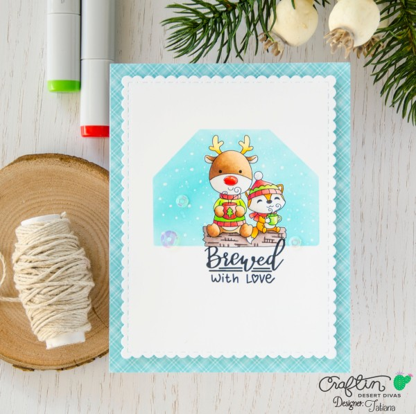Brewed With Love #handmadecard by Tatiana Trafimovich #tatianacraftandart - Brewed With Love Stamp Set by Craftin Desert Divas #craftindeserdivas
