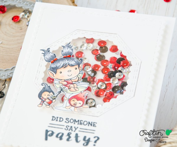Did someone day party?#handmadecard by Tatiana Trafimovich #tatianacraftandart - Celebration Trolls Stamp Set by Craftin Desert Divas
