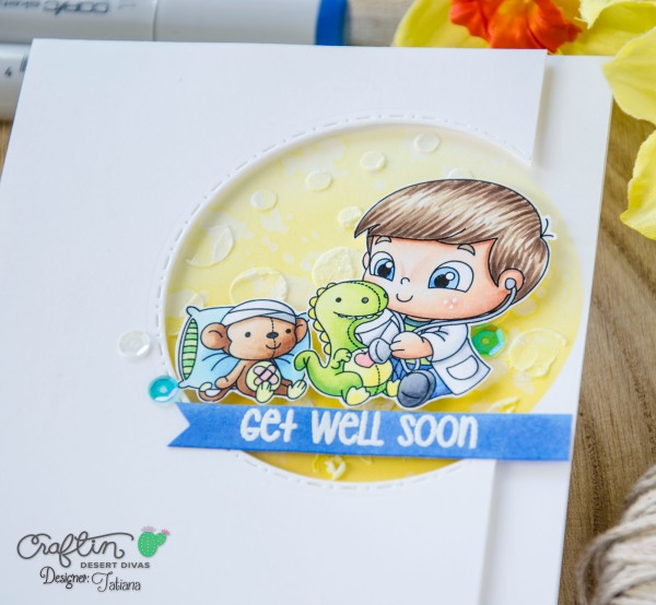 Get Well Soon #handmadecard by Tatiana Trafimovich #tatianacraftandart - Get Well Stamp Set by Craftin Desert Divas