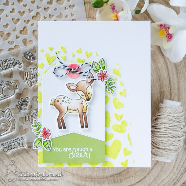 You Are Such A Deer #handmade card by Tatiana Trafimovich #tatianacraftandart - Deer Friend stamp set by Newton's Nook Designs #newtonsnook