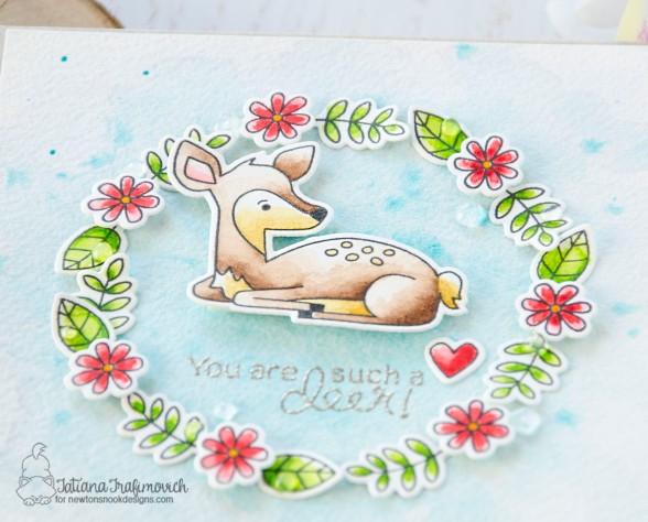 You Are Such A Deer #handmade card by Tatiana Trafimovich #tatianacraftandart - Deer Friend stamp set by Newton's Nook Designs #newtonsnook