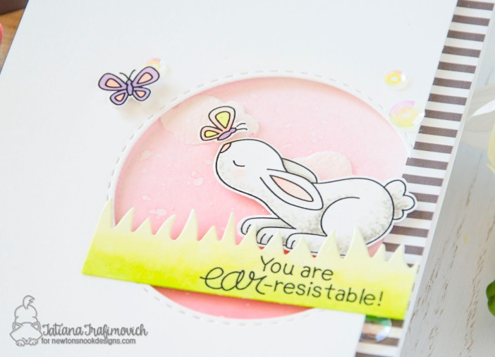 You are EAR-resistable #handmade card by Tatiana Trafimovich #tatianacraftandart - Bitty Bunnies stamp set by Newton's Nook Designs #newtonsnook