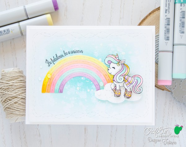 Be Fabulous Be A Unicorn #handmadecard by Tatiana Trafimovich #tatianacraftandart - Believe Stamp Set by Craftin Desert Divas #craftindesertdivas
