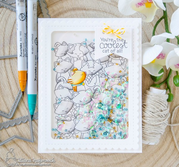 You're the Coolest Cat of All #handmade card by Tatiana Trafimovich #tatianacraftandart - Company of Cats stamp set by Newton's Nook Designs #newtonsnook