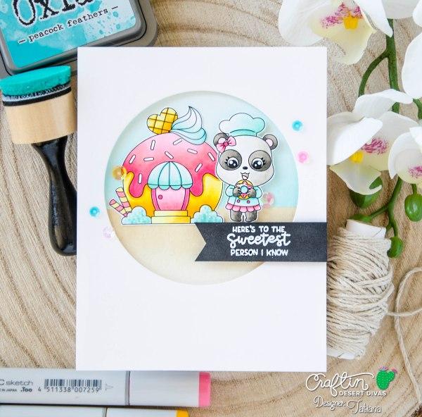 To The Sweetest Person I Know #handmadecard by Tatiana Trafimovich #tatianacraftandart - Donut Party Set by Craftin Desert Divas #craftindesertdivas