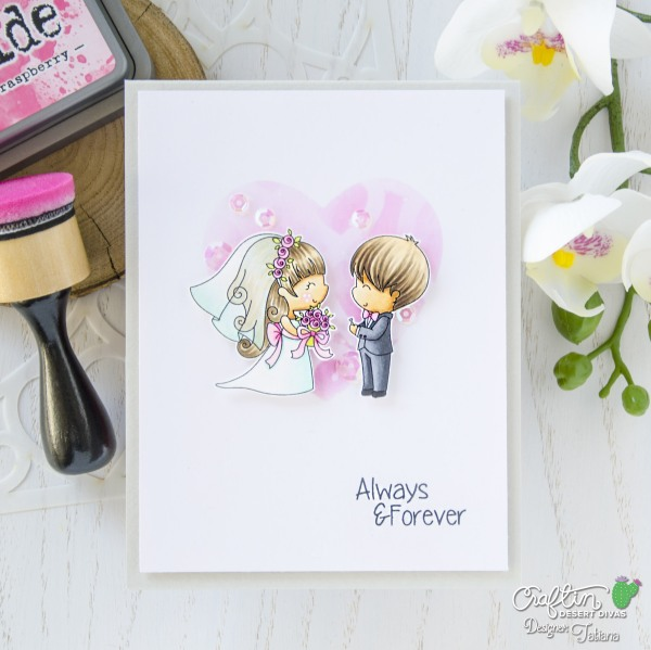 Always & Forever #handmadecard by Tatiana Trafimovich #tatianacraftandart - Hitched Stamping Set Set by Craftin Desert Divas #craftindesertdivas
