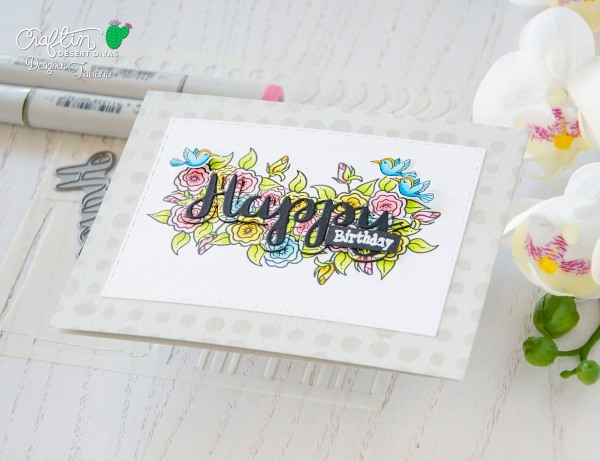 Happy Birthday #handmadecard by Tatiana Trafimovich #tatianacraftandart - Seasonal Fairies Stamping Set Set by Craftin Desert Divas #craftindesertdivas