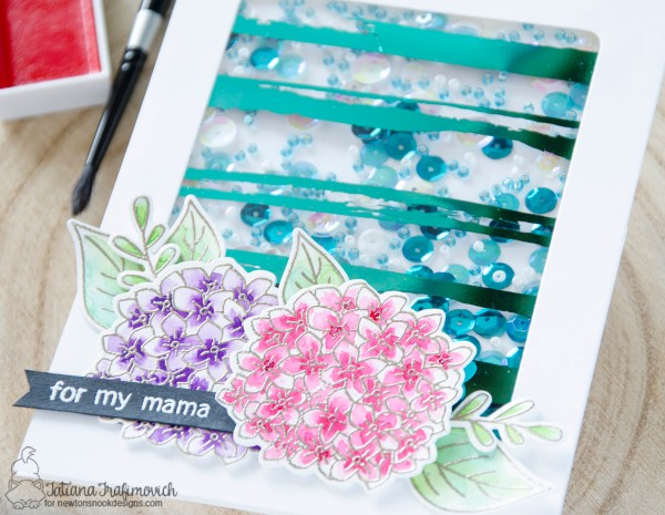 For My Mama #handmade card by Tatiana Trafimovich #tatianacraftandart - Lovely Blooms stamp set by Newton's Nook Designs #newtonsnook