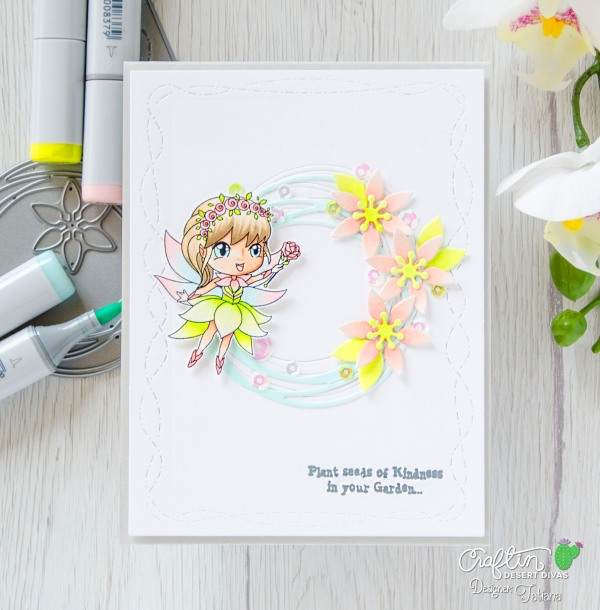 Plant Seeds of Kindness #handmadecard by Tatiana Trafimovich #tatianacraftandart - Seasonal Fairies Stamp Set by Craftin Desert Divas #craftindesertdivas