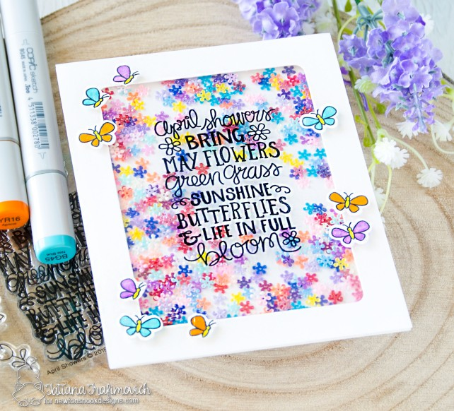 April Showers #handmade card by Tatiana Trafimovich #tatianacraftandart - April Showers stamp set by Newton's Nook Designs #newtonsnook