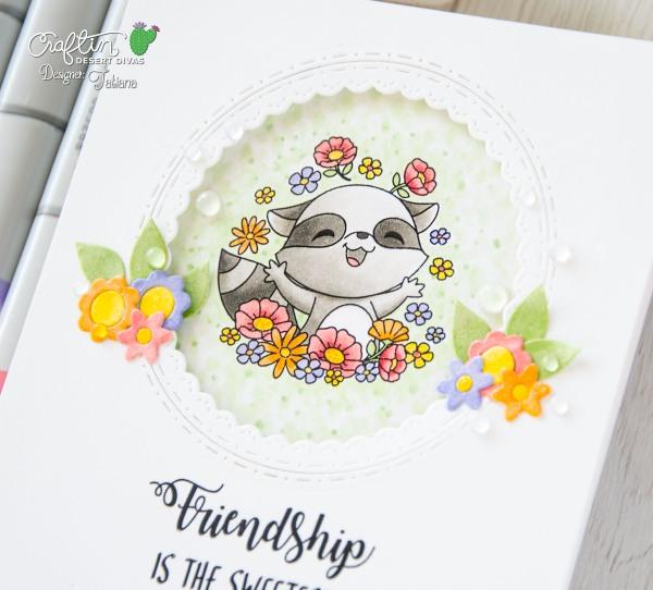 Friendship is the Sweetest Flower #handmadecard by Tatiana Trafimovich #tatianacraftandart - Friendship stamp set by Craftin Desert Divas #craftindesertdivas