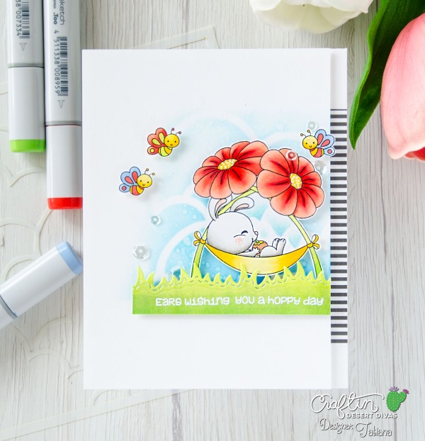 Ears Wishing You A Hoppy Day #handmadecard by Tatiana Trafimovich #tatianacraftandart - Friendship stamp set by Craftin Desert Divas #craftindesertdivas