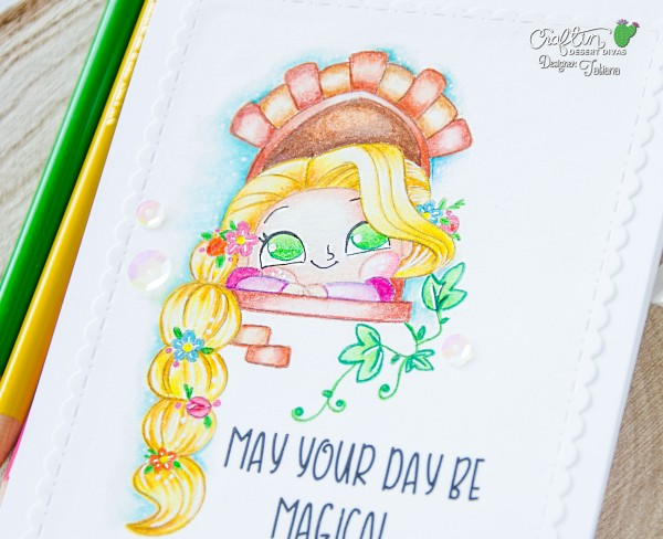 May Your Day Be Magical #handmadecard by Tatiana Trafimovich #tatianacraftandart - Magical princess digital stamp set by Craftin Desert Divas #craftindesertdivas