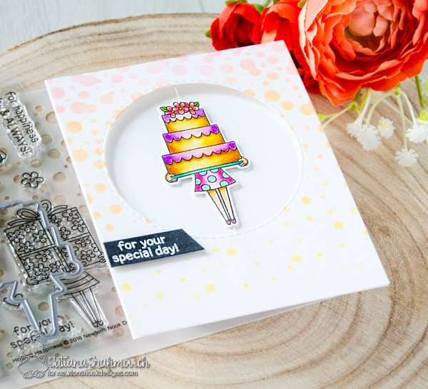 For Your Special Day #handmade card by Tatiana Trafimovich #tatianacraftandart - Holding Happiness stamp set by Newton's Nook Designs #newtons