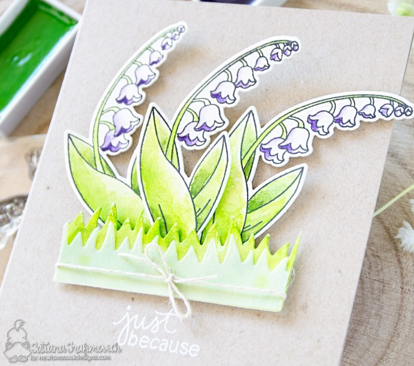 Just Because #handmade card by Tatiana Trafimovich #tatianacraftandart - Little Lilies stamp set by Newton's Nook Designs #newtonsnook