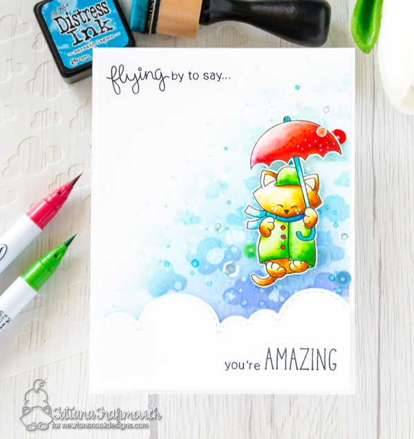 You're Amazing #handmade card by Tatiana Trafimovich #tatianacraftandart - Newton Dreams of London stamp set by Newton's Nook Designs #newtonsnook