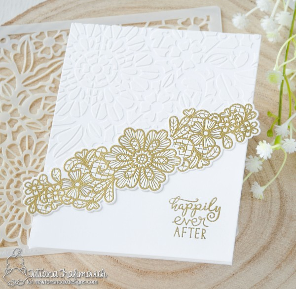 Happily Ever After #handmade card by Tatiana Trafimovich #tatianacraftandart - Wedding Frills stamp set by Newton's Nook Designs #newtonsnook