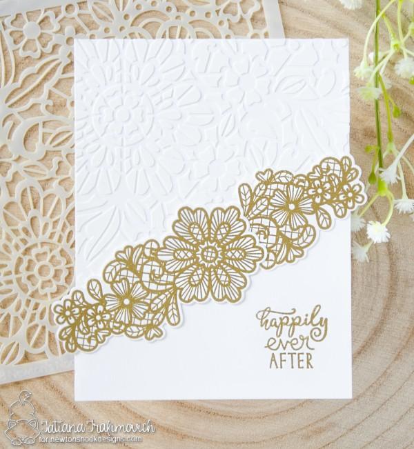 Happily Ever After #handmade card by Tatiana Trafimovich #tatianacraftandart - Wedding Frills stamp set by Newton's Nook Designs #newtonsnook
