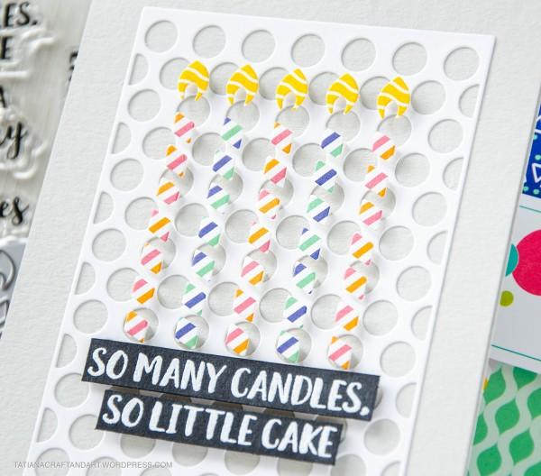 So Many Candles #handmadecard by Tatiana Trafimovich #tatianacraftandart - Birthday Wishes stamp set by Reverse Confetti #craftindesertdivas