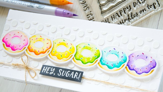 Hey, Sugar #handmadecard by Tatiana Trafimovich #tatianacraftandart - Hey, Sugar stamp set by Reverse Confetti #reverseconfetti