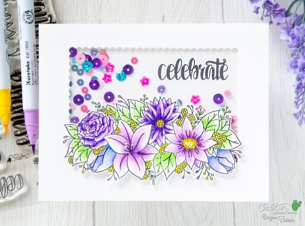 Celebrate #handmadecard by Tatiana Trafimovich #tatianacraftandart - Kindness stamp set by Craftin Desert Divas #craftindesertdivas