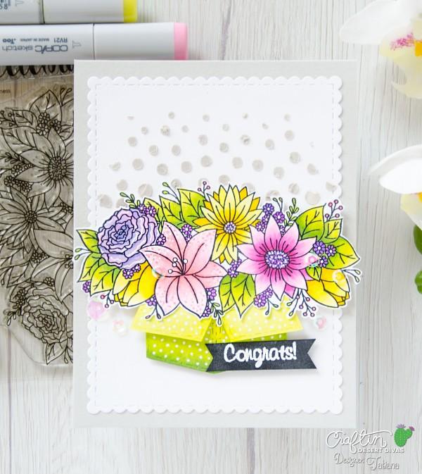 Congrats #handmadecard by Tatiana Trafimovich #tatianacraftandart - Kindness stamp set by Craftin Desert Divas #craftindesertdivas
