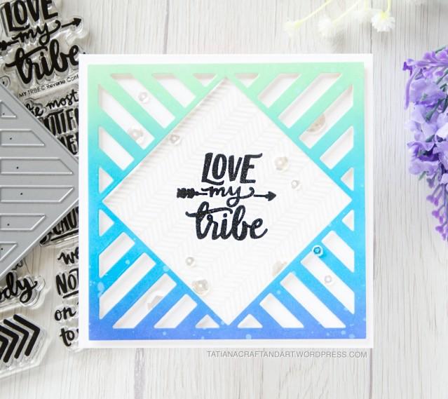 Love My Tribe #handmadecard by Tatiana Trafimovich #tatianacraftandart - My Tribe stamp set by Reverse Confetti #reverseconfetti