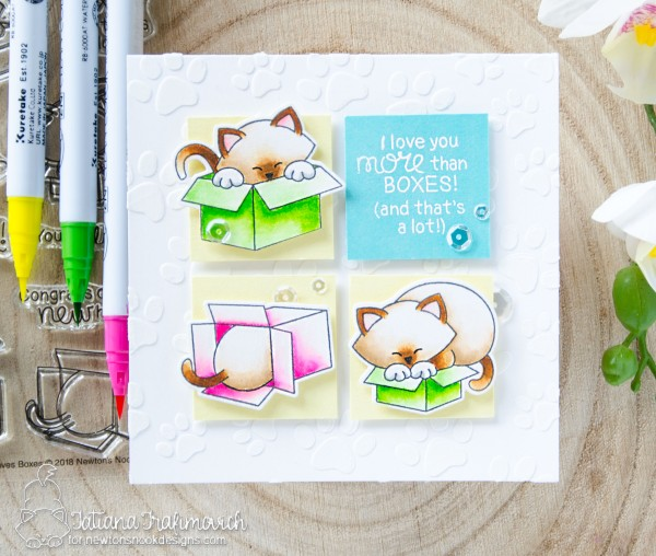 I Love You More Than Boxes #handmade card by Tatiana Trafimovich #tatianacraftandart - Newton Loves Boxes stamp set by Newton's Nook Designs #newtonsnook