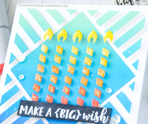 Make A Big Wish #handmadecard by Tatiana Trafimovich #tatianacraftandart - Birthday Wishes stamp set by Reverse Confetti #reverseconfetti