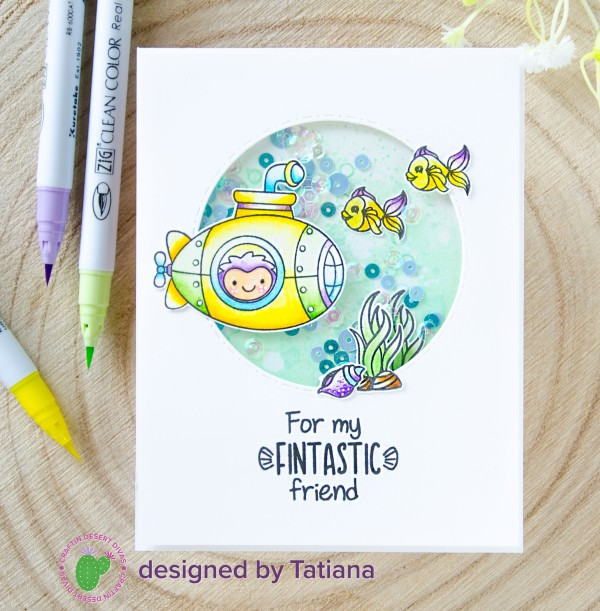 For My Fintastic Friend #handmadecard by Tatiana Trafimovich #tatianacraftandart - Fintastic Friends stamp set by Craftin Desert Divas #craftindesertdivas