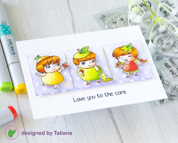 Love You To The Core #handmadecard by Tatiana Trafimovich #tatianacraftandart - Fruity Friends stamp set by Craftin Desert Divas #craftindesertdivas