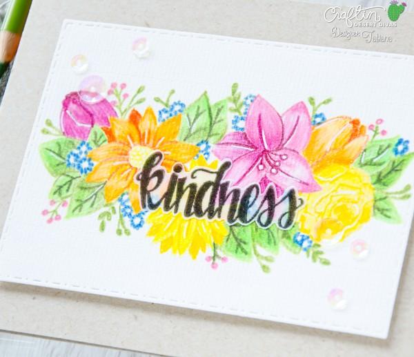 Kindness #handmadecard by Tatiana Trafimovich #tatianacraftandart - Kindness stamp set by Craftin Desert Divas #craftindesertdivas