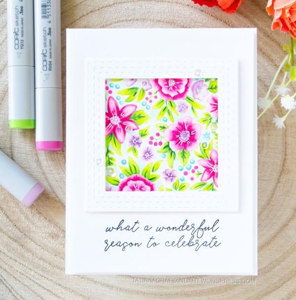 What A Wonderful Season To Celebrate #handmadecard by Tatiana Trafimovich #tatianacraftandart - Pattern Blocks stamp set by Reverse Confetti #reverseconfetti