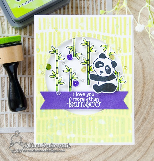 I Love You More Than Bamboo #handmade card by Tatiana Trafimovich #tatianacraftandart - Playful Pandas stamp set by Newton's Nook Designs #newtonsnook
