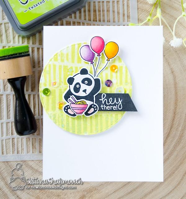 Hey There #handmade card by Tatiana Trafimovich #tatianacraftandart - Playful Pandas stamp set by Newton's Nook Designs #newtonsnook