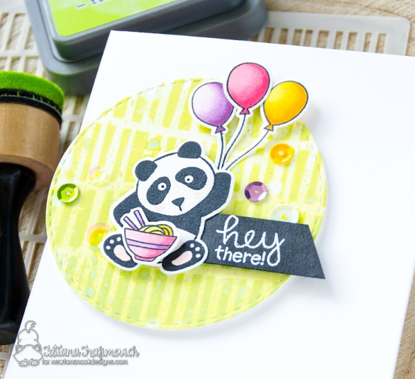 Hey There #handmade card by Tatiana Trafimovich #tatianacraftandart - Playful Pandas stamp set by Newton's Nook Designs #newtonsnook