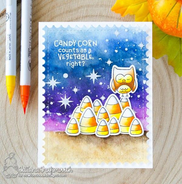 Candy Corn #handmade card by Tatiana Trafimovich #tatianacraftandart - Candy Corn stamp set by Newton's Nook Designs #newtonsnook