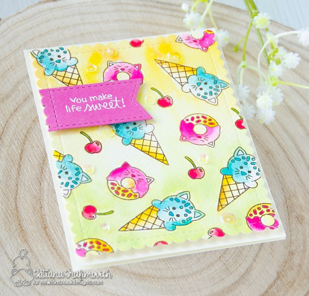 You Make Life Sweet #handmade card by Tatiana Trafimovich #tatianacraftandart - Pina Koala stamp set by Newton's Nook Designs #newtonsnook