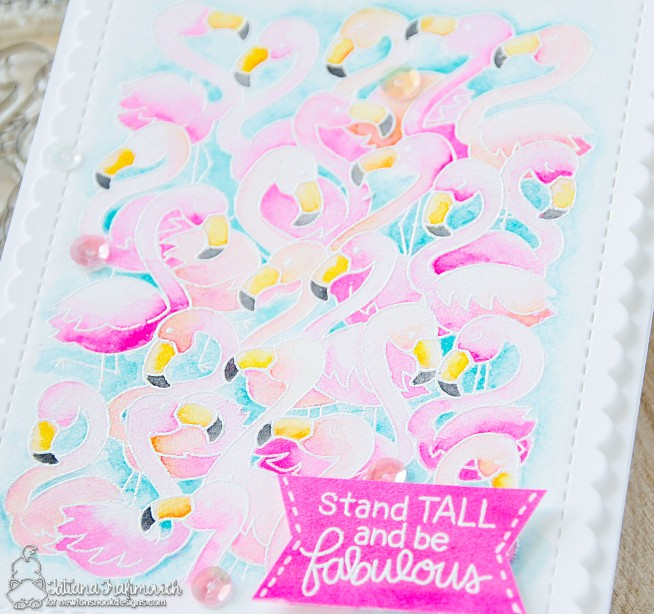 Stand Tall And Be Fabulous #handmade card by Tatiana Trafimovich #tatianacraftandart - Flamingo Flock stamp set by Newton's Nook Designs #newtonsnook