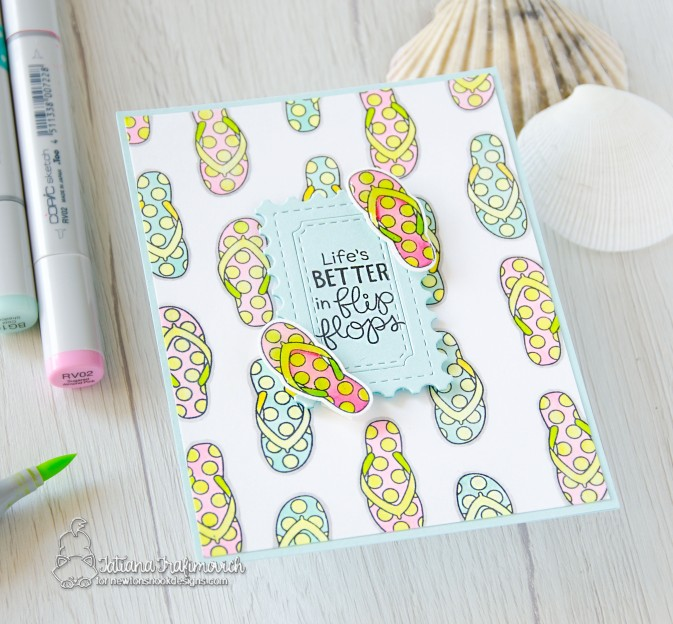 Life Is Better In Flip Flops #handmade card by Tatiana Trafimovich #tatianacraftandart - Pina Koala stamp set by Newton's Nook Designs #newtonsnook