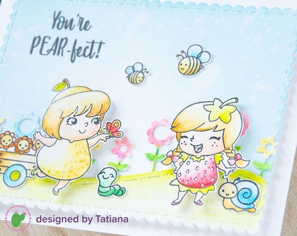 You're PEAR-frct #handmadecard by Tatiana Trafimovich #tatianacraftandart - Fruity Friends stamp set by Craftin Desert Divas #craftindesertdivas