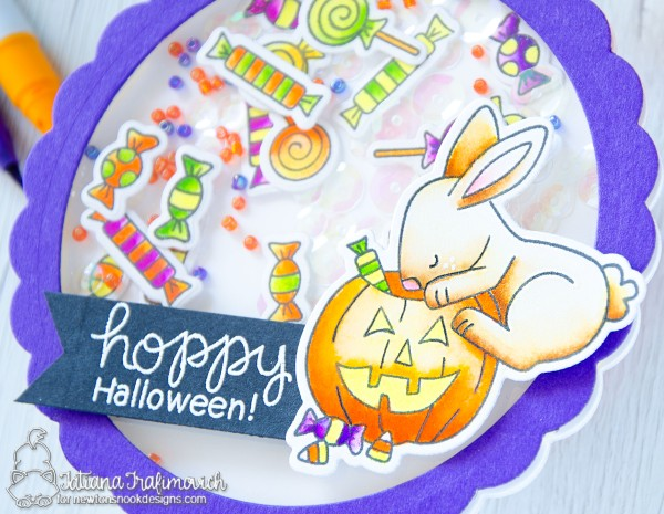 Hoppy Halloween #handmade card by Tatiana Trafimovich #tatianacraftandart - Hoppy Halloween stamp set by Newton's Nook Designs #newtonsnook