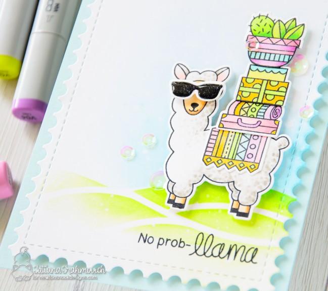 No Prob-llama #handmade card by Tatiana Trafimovich #tatianacraftandart - Loveable Llamas stamp set by Newton's Nook Designs #newtonsnook