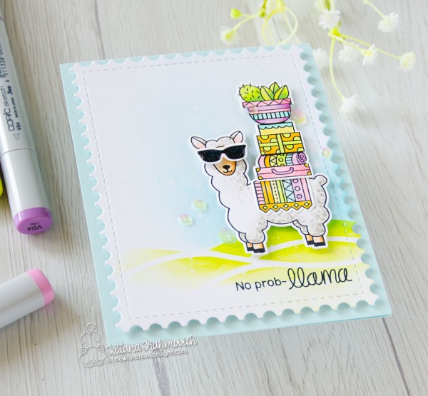 No Prob-llama #handmade card by Tatiana Trafimovich #tatianacraftandart - Loveable Llamas stamp set by Newton's Nook Designs #newtonsnook