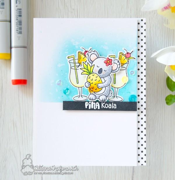 Pina Koala #handmade card by Tatiana Trafimovich #tatianacraftandart - Pina Koala stamp set by Newton's Nook Designs #newtonsnook