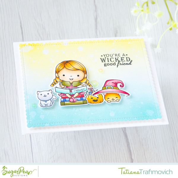 You're A Wicked Good Friend #handmade card by Tatiana Trafimovich #tatianacraftandart - Bewitched stamp set by SugarPea Designs #sugarpeadesigns